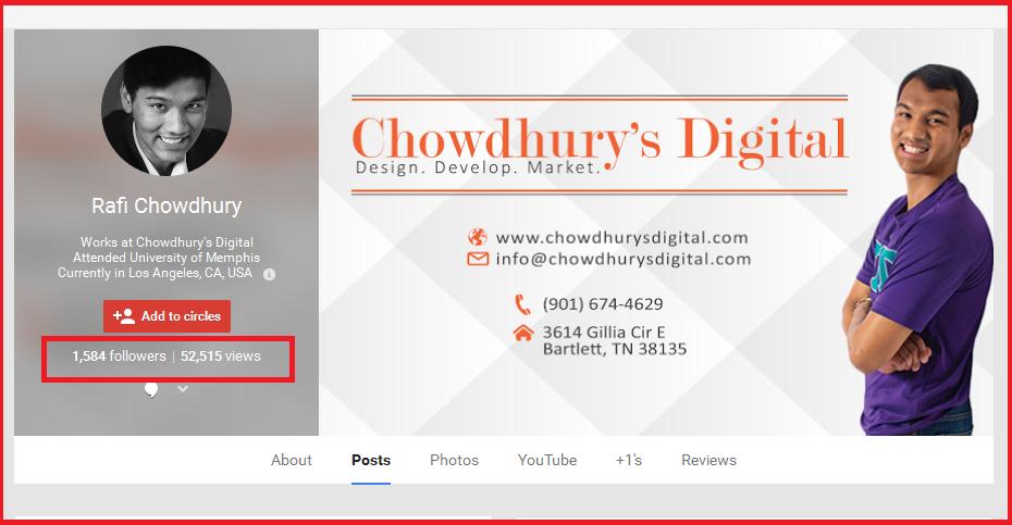 Rafi chowdhury growth hacker Google+ Profile
